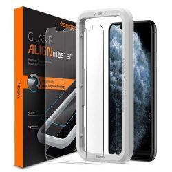 Edzett üveg SPIGEN ALM GLAS.TR 2 SLIM-Pack Pro IPHONE 11kijelzőfólia üvegfólia tempered glass