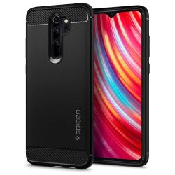 SPIGEN ARMOR RUGGED Xiaomi redmi Note 8 PRO matt fekete telefon tok telefontok (hátlap)
