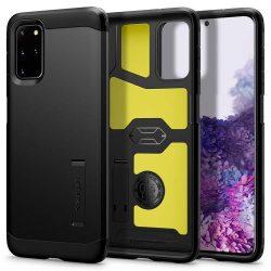 Spigen Kemény páncél Samsung Galaxy S20 + Plus Fekete telefontok