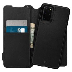Spigen Ciel Wallet Tégla Samsung Galaxy S20 + Plus Fekete telefontok