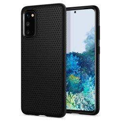 Spigen Liquid Air Samsung Galaxy S20 matt fekete telefontok