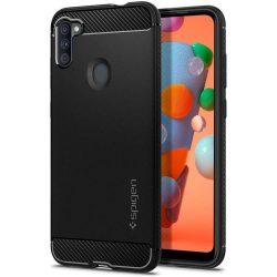 Spigen Robusztus Armor A11 Samsung Galaxy matt fekete telefontok