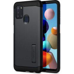 Spigen Kemény páncél Galaxy A21s Metal Slate telefontok