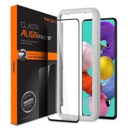 Szkło Hartowane Spigen Alm Glass Fc Samsung Galaxy A51 Fekete kijelzőfólia telefonfólia