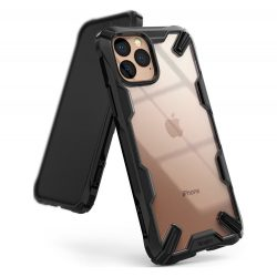 Fusion X Ringke tartós PC tok TPU Bumper iPhone 11 Pro fekete (FUAP0013) tok telefon tok hátlap