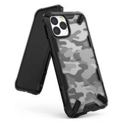 Ringke Fusion X design tartós PC Tok TPU Bumper iPhone 11 Pro Camo Fekete (XDAP0002) telefontok hátlap tok