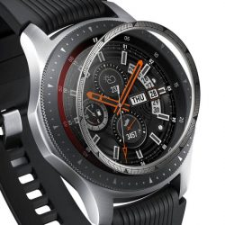 Ringke Belső visszahelyezése hajformázó telefontok keret borítékot gyűrű Samsung Galaxy Watch 46mm / Előtét S3 ezüst (RGSG0055) telefontok hátlap tok