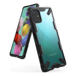 Ringke Fusion X tartós PC Tok TPU Bumper Samsung Galaxy A51 fekete (FUSG0037) telefontok hátlap tok