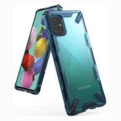 Ringke Fusion X tartós PC Tok TPU Bumper Samsung Galaxy A51 kék (FUSG0038) telefontok hátlap tok