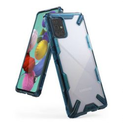 Ringke Fusion X tartós PC Tok TPU Bumper Samsung Galaxy A71 kék (FUSG0040) telefontok hátlap tok
