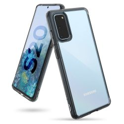 Ringke Fusion PC Tok TPU Bumper Samsung Galaxy S20 fekete (FSSG0072) telefontok tok
