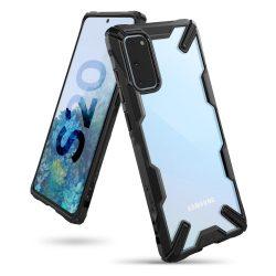 Ringke Fusion X tartós PC Tok TPU Bumper Samsung Galaxy S20 fekete (FUSG0041) telefontok hátlap tok