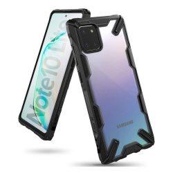 Ringke Fusion X tartós PC Tok TPU bumper Samsung Galaxy Note 10 Lite fekete (FUSG0047)