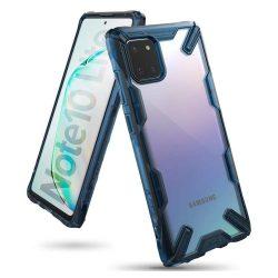 Ringke Fusion X tartós PC Tok TPU bumper Samsung Galaxy Note 10 Lite kék (FUSG0048)