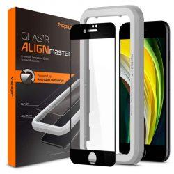 Szkło Hartowane Spigen Alm Glass Fc Iphone 7/8 / Se 2020 fekete üvegfólia