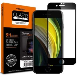 Szkło Hartowane Spigen Glass Fc Iphone 7/8 / Se 2020 fekete üvegfólia