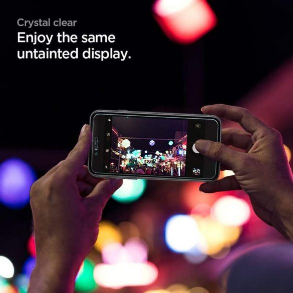 Edzett üveg Spigen Glass Fc 2-Pack Iphone 7/8 / Se 2020 fekete üvegfólia