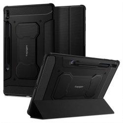 "Spigen Rugged Armor ""Pro"" Galaxy Tab S7 + Plus 12.4 T970 / T976 fekete telefontok"