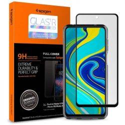 SZKLO HARTOWANE SPIGEN GLASS FC Xiaomi redmi Note 9S / 9 PRO / 9 PRO MAX BLACK