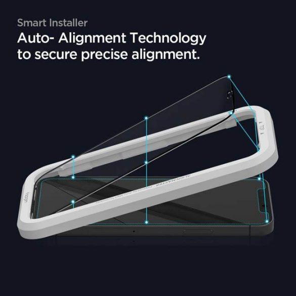 Edzett Üveg Spigen Alm Glass Fc 2-Pack iPhone 12 Pro / iPhone 12 Fekete üvegfólia
