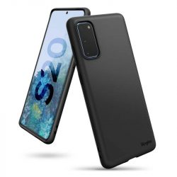 Ringke Air ultra-vékony tok Gel TPU tok Samsung Galaxy S20 fekete (ADSG0018) telefontok