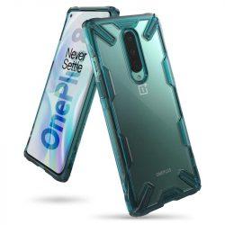 Ringke Fusion X tartós PC Tok TPU Bumper OnePlus 8 zöld (FXOP0012) telefontok