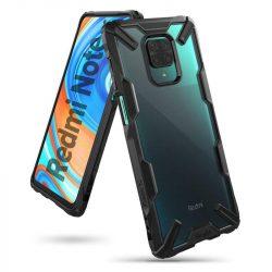 Ringke Fusion X tartós PC Tok TPU Bumper Xiaomi redmi Note 9 Pro / redmi Note 9S fekete (FXXI0020) telefontok