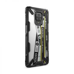 Ringke Fusion X design tartós PC Tok TPU Bumper Xiaomi redmi Note 9 Pro / redmi Note 9S fekete (XDXI0010) telefontok
