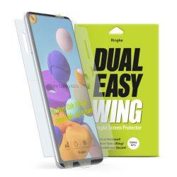 Ringke Dual Easy Wing 2x önálló portalanító képernyő védő Samsung Galaxy A21S (DWSG0012) telefon védőfólia