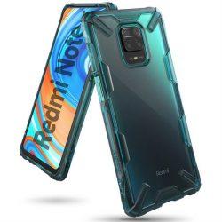 Ringke Fusion X tartós PC Tok TPU Bumper Xiaomi redmi 10X 4G / Xiaomi redmi Note 9 zöld (FXXI0025) telefontok