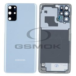 Akumulátor Fedél Samsung G985 Galaxy S20 Plus Cloud Kék Kameralencsével Gh82-22032d [Eredeti Használt A Osztály]