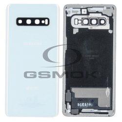 Akumulátor Fedél Samsung G973-Mal Galaxy S10 Fehér Kameralencsével Gh82-18378f [Eredeti Használt A Osztály]