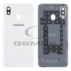 Akkumulátor Telefontok Ház Samsung A405 Galaxy A40 Fehér Objektívvel Fényképezőgép Gh82-19406b [Eredeti Használt A Osztály]