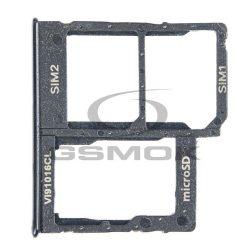 Sim Kártya Tartó Samsung Galaxy A405 A40 Fekete