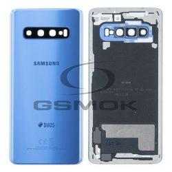 Akumulátor Fedél Samsung G973-Mal Galaxy S10 Kék Kameralencsével Gh82-18378c [Eredeti Használt A Osztály]