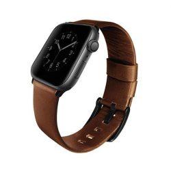 UNIQ bar Mondain Apple Watch Series 4 44MM valódi bőr barna / szépia barna
