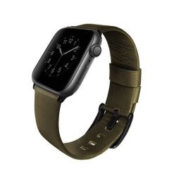 UNIQ óraszíj Mondain Apple Watch Series 4 44MM valódi bőr olíva