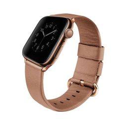 UNIQ bar Mondain Apple Watch Series 4 40MM valódi bőr rózsaszín / korall rózsaszín