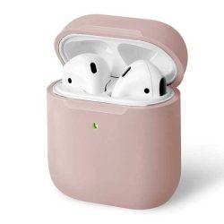 UNIQ tok Lino AirPods 1,2 gen. Szilikon rózsaszín / rózsaszín pír tok