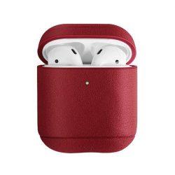 UNIQ telefontok Terra 1.2 AirPods gént. Valódi bőr piros / piros telefontok hátlap tok