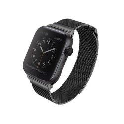 UNIQ bár Dante Apple Watch Series 4 rozsdamentes acél 44MM fekete / éjfekete