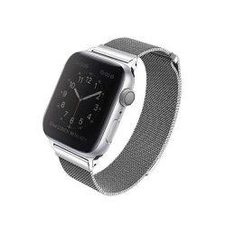 UNIQ bár Dante Apple Watch 44MM Series 4 rozsdamentes acél ezüst / ezüst