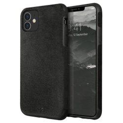 UNIQ iPhone tok Sueve 11 fekete / szénfekete telefontok hátlap tok