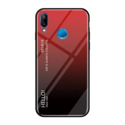 Gradiens Glass tartós edzett üveg tempered glass tempered glass tempered glass lap Huawei P20 Lite fekete-piros