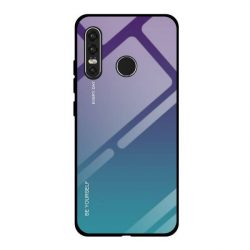 Gradiens Glass tartós edzett üveg tempered glass tempered glass tempered glass lap Huawei P30 Lite zöld-lila