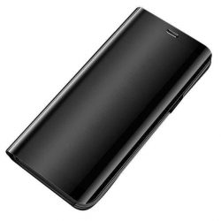 Clear View tok Samsung Galaxy A51 fekete telefontok hátlap tok