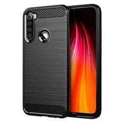 Carbon tok Rugalmas tok TPU tok Xiaomi redmi Note 8T fekete telefontok hátlap tok