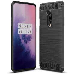 Carbon tok Rugalmas tok TPU tok OnePlus 7T Pro fekete telefontok hátlap tok