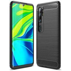 Carbon tok Rugalmas tok TPU tok Xiaomi Mi Note 10 / Mi Note 10 Pro / Mi CC9 Pro fekete telefontok hátlap tok