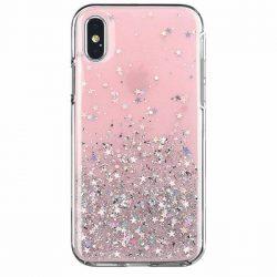 Wozinsky Star Glitter Shining tok iPhone 8 Plus / iPhone 7 Plus rózsaszín telefontok hátlap tok